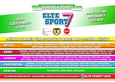 "2016-ban is ""Szabad a sport!"""